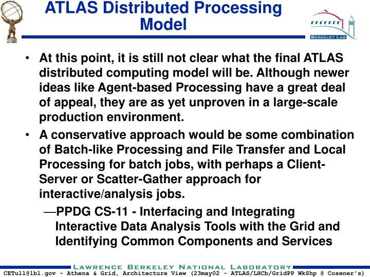 ATLAS Distributed Processing Model