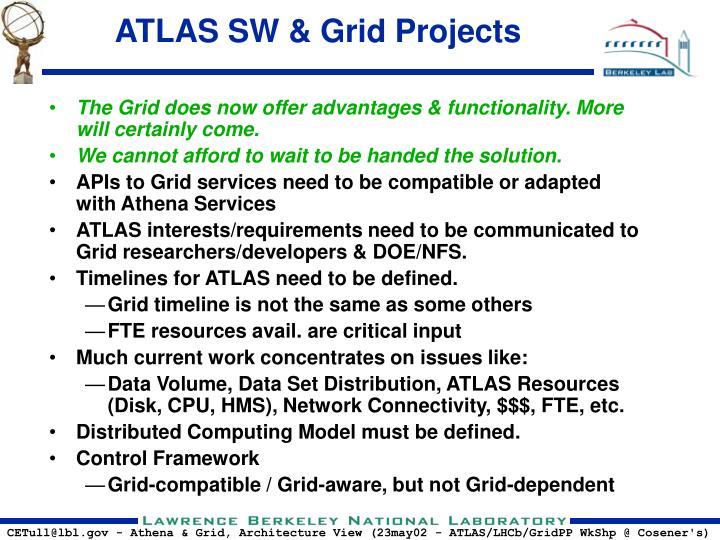 ATLAS SW & Grid Projects