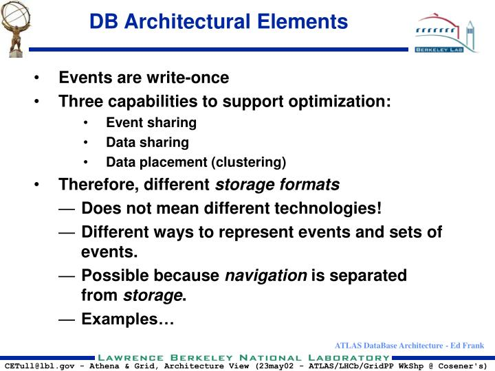 DB Architectural Elements