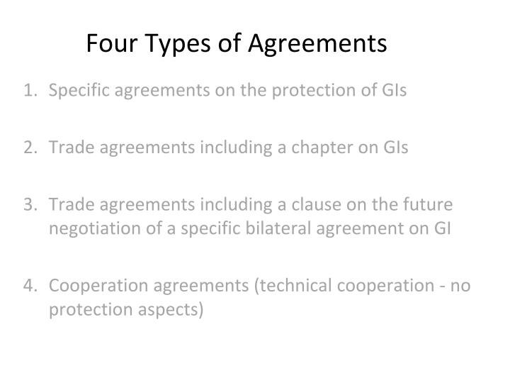 Four Types of Agreements