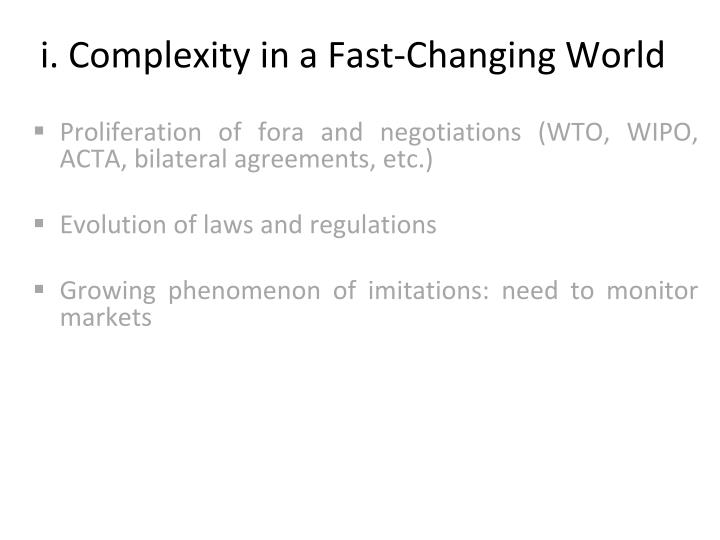 i. Complexity in a Fast-Changing World