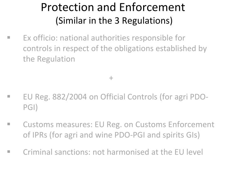 Protection and Enforcement