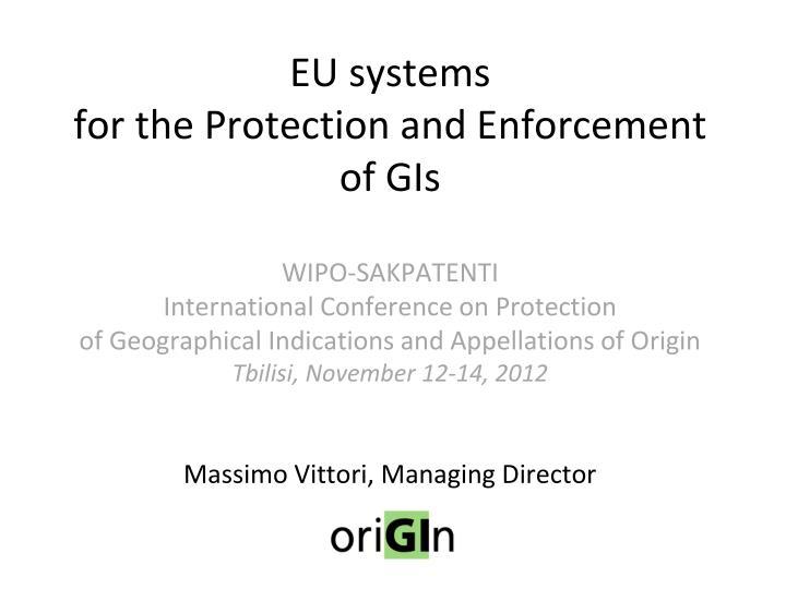 EU systems