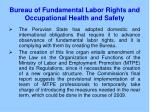 bureau of fundamental labor rights and occupational health and safety4