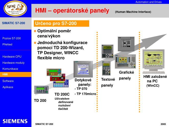 HMI – operátorské panely