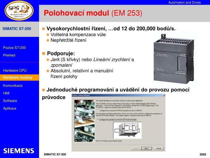 Polohovací modul