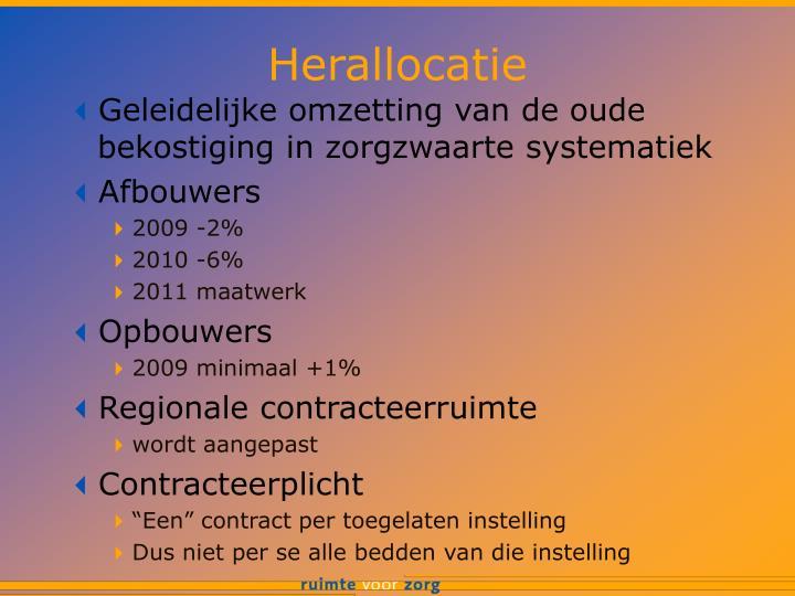 Herallocatie