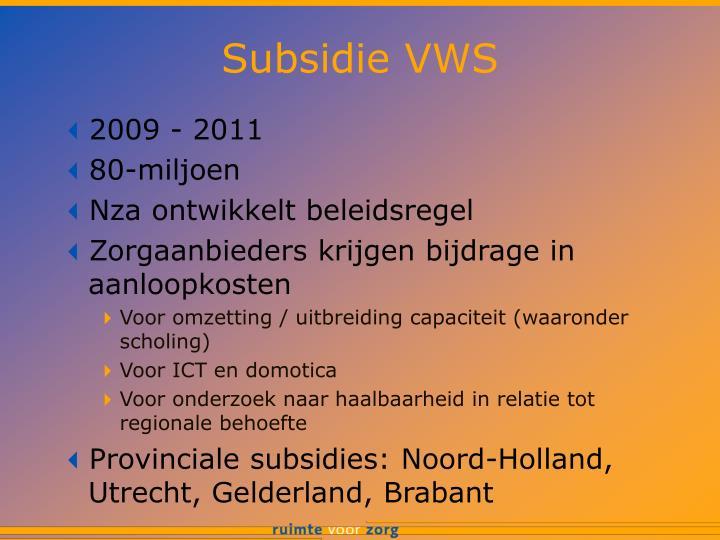 Subsidie VWS