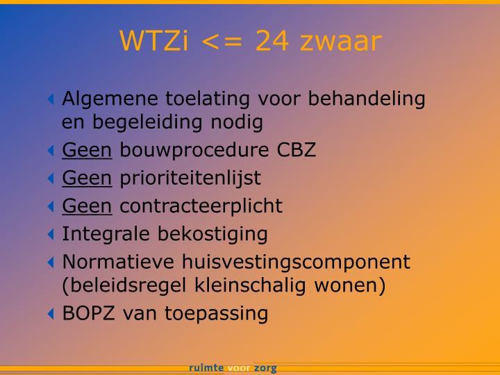 WTZi <= 24 zwaar