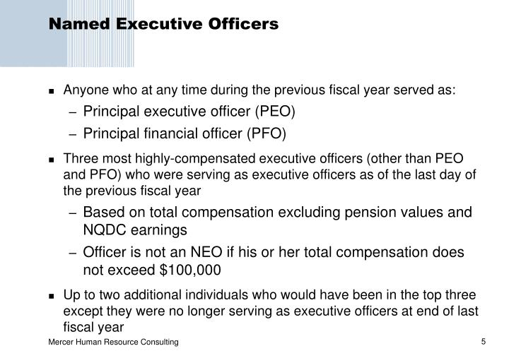 Named Executive Officers