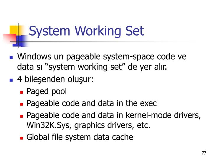 System Working Set