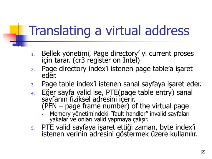 Translating a virtual addres