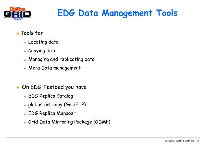 EDG Data Management Tools
