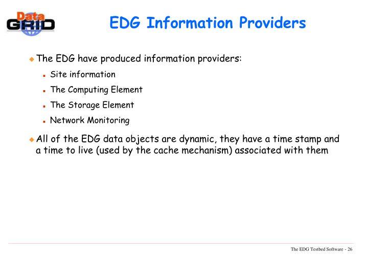 EDG Information Providers