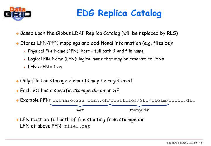 EDG Replica Catalog