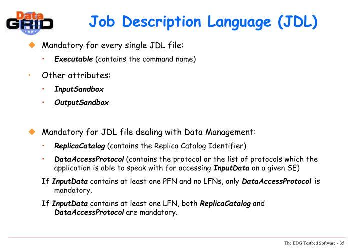 Job Description Language (JDL)