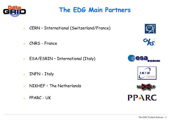 The EDG Main Partners