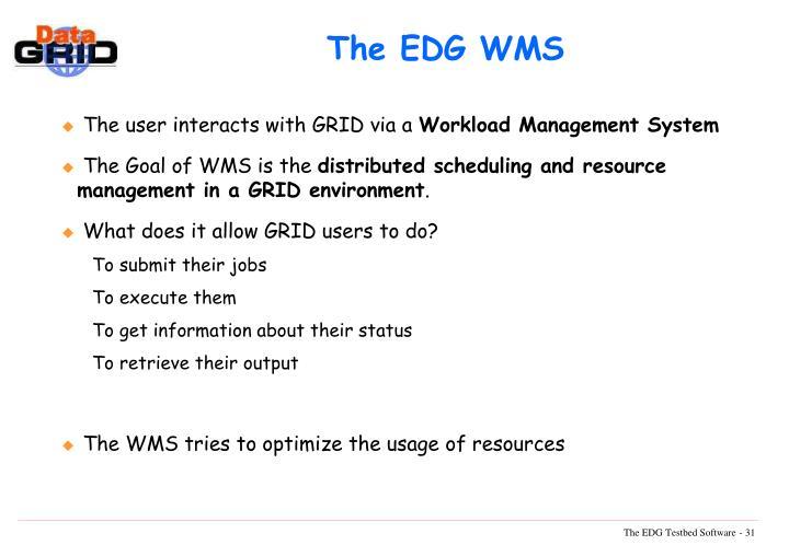 The EDG WMS