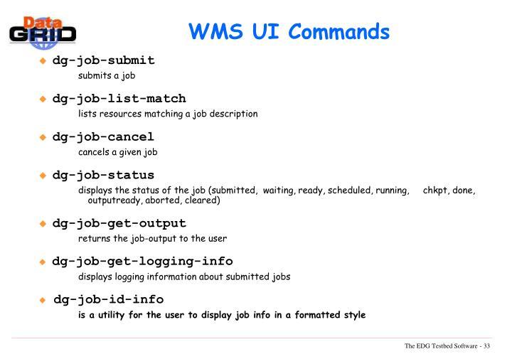 WMS UI Commands