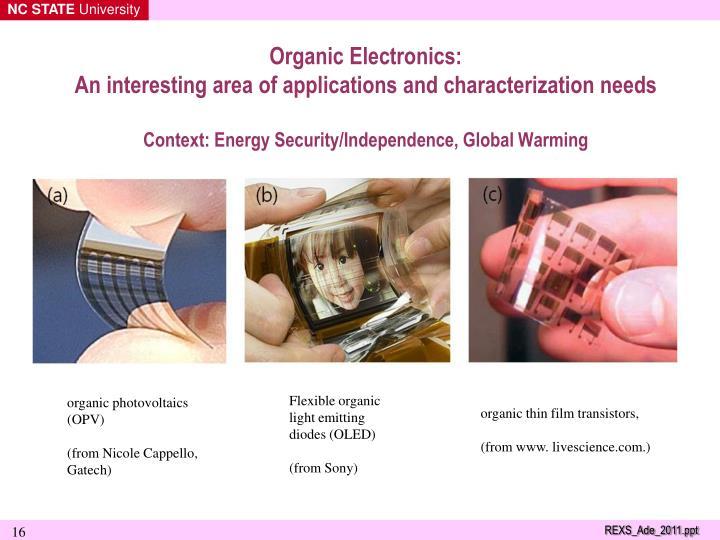 Organic Electronics:
