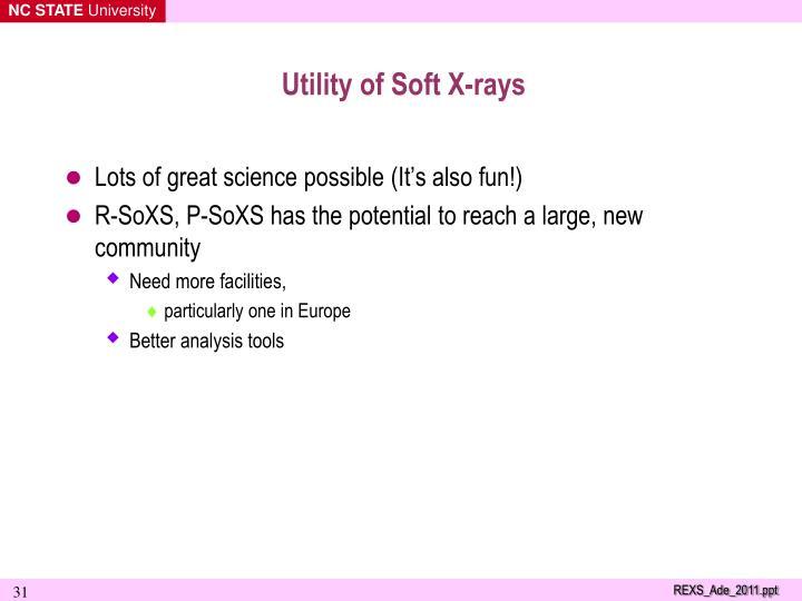 Utility of Soft X-rays
