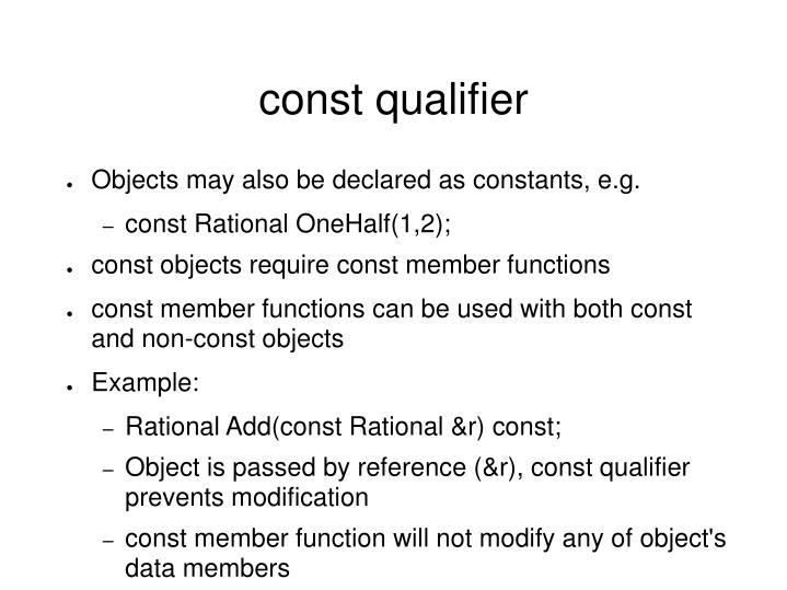 const qualifier