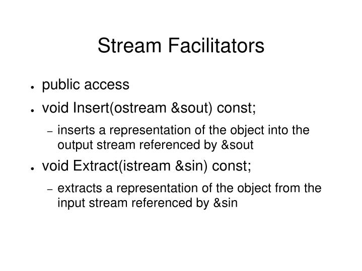 Stream Facilitators