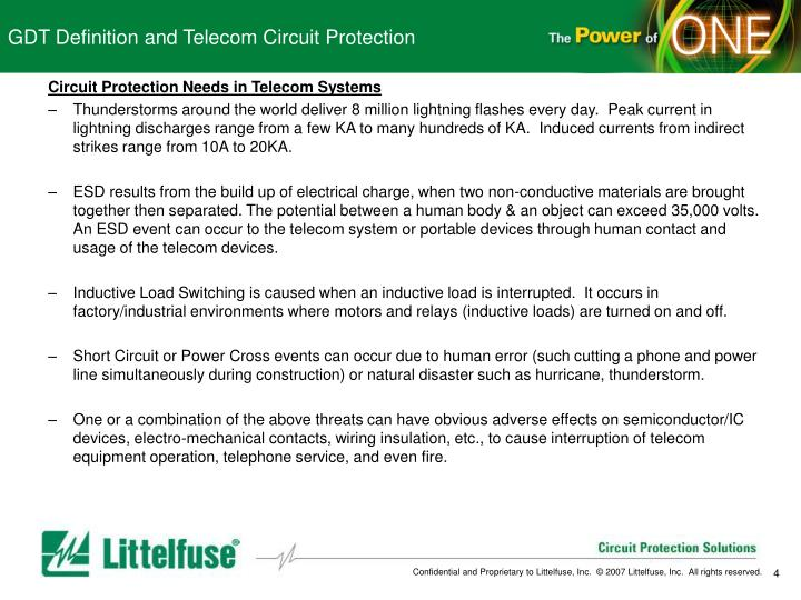 GDT Definition and Telecom Circuit Protection