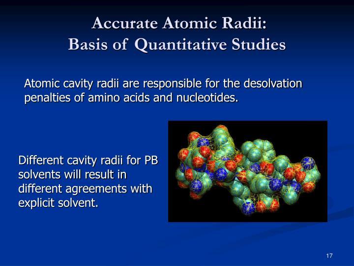 Accurate Atomic Radii: