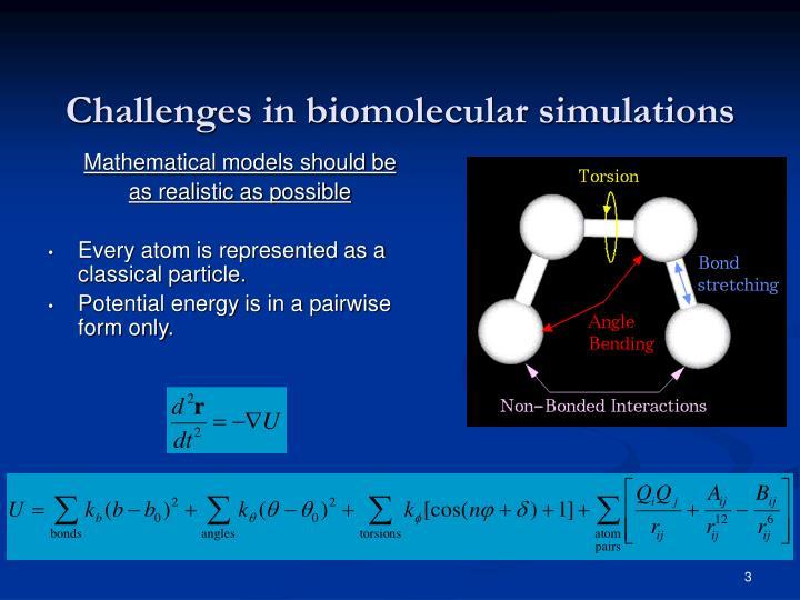 Challenges in biomolecular simulations