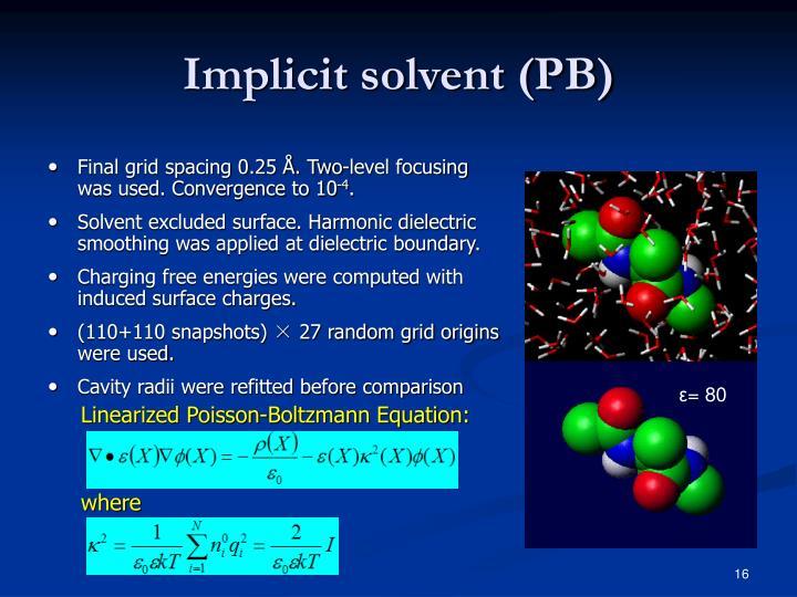 Implicit solvent (PB)
