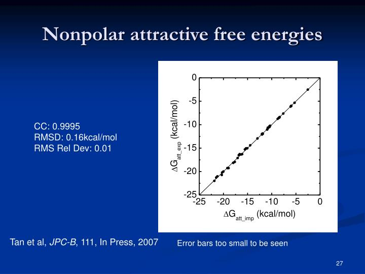 Nonpolar attractive free energies