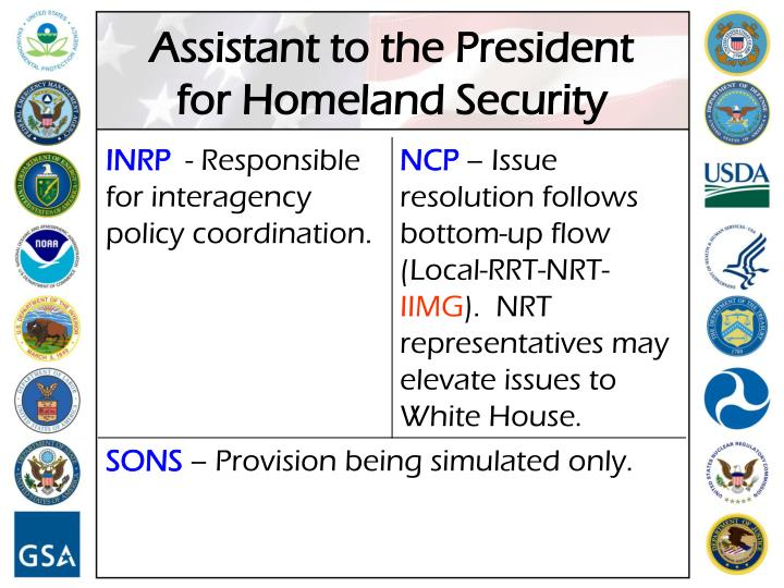 Assistant to the President for Homeland Security
