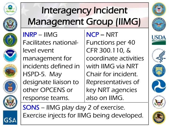Interagency Incident Management Group (IIMG)