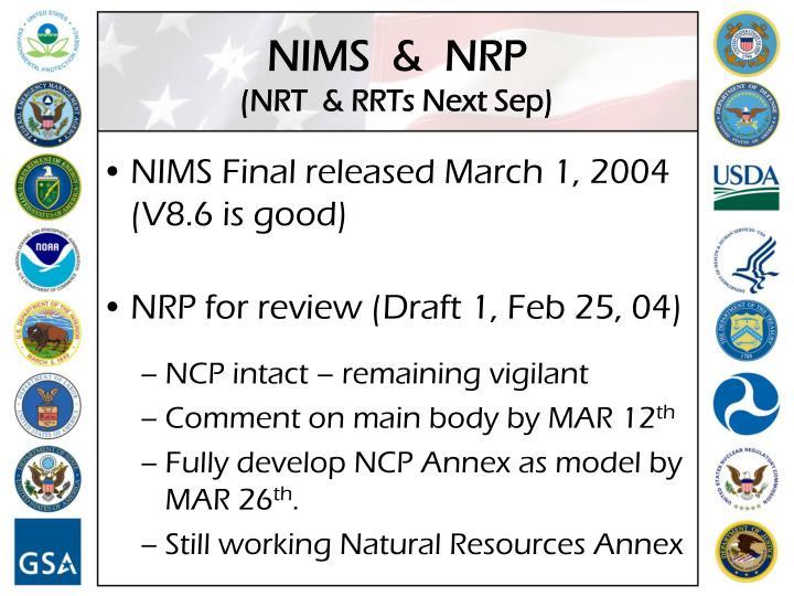 NIMS  &  NRP