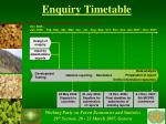 enquiry timetable