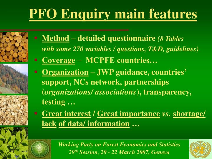 Pfo enquiry main features
