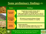 some preliminary findings 1