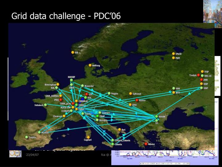 Grid data challenge - PDC'06