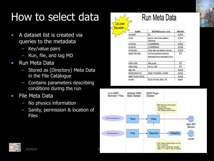 How to select data