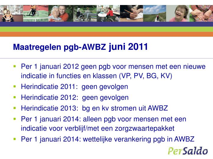 Maatregelen pgb-AWBZ