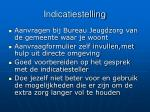 indicatiestelling