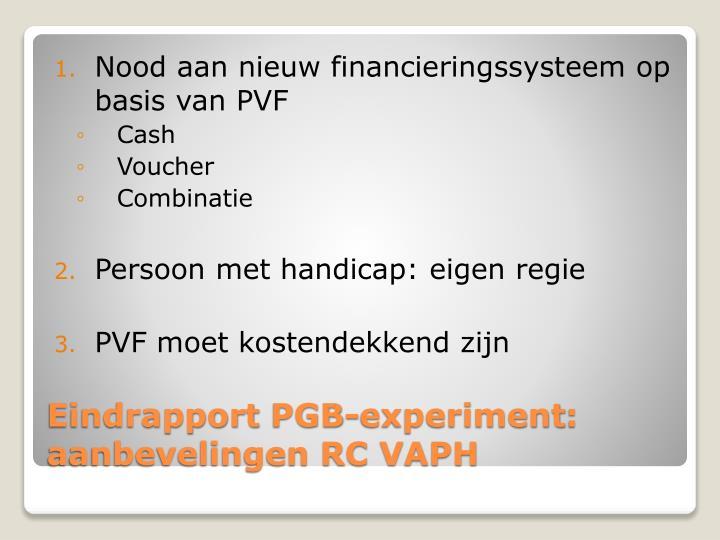 Nood aan nieuw financieringssysteem op basis van PVF