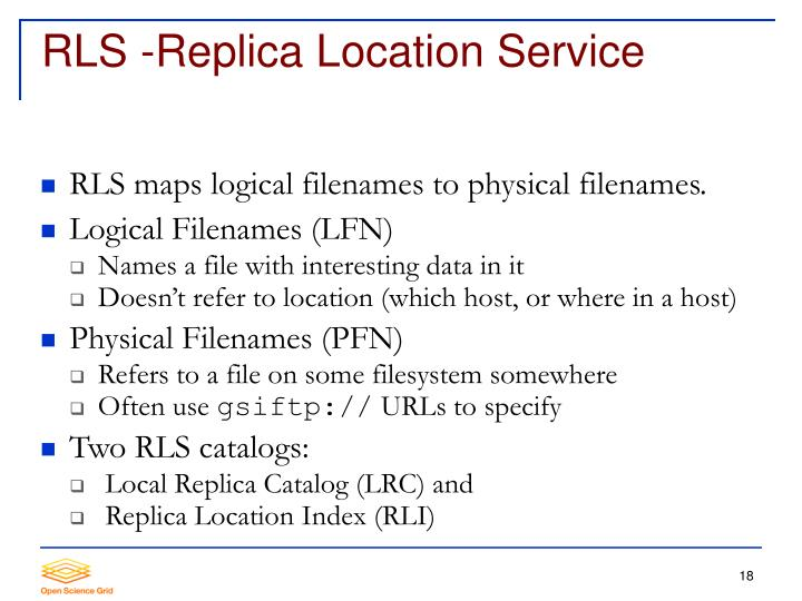 RLS -Replica Location Service