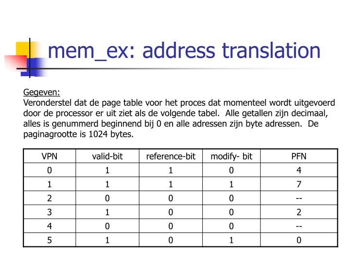 mem_ex: address translation