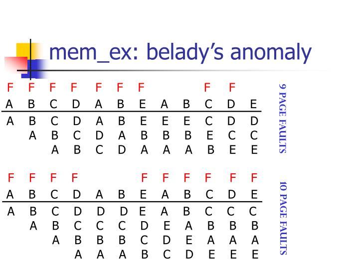 mem_ex: belady's anomaly