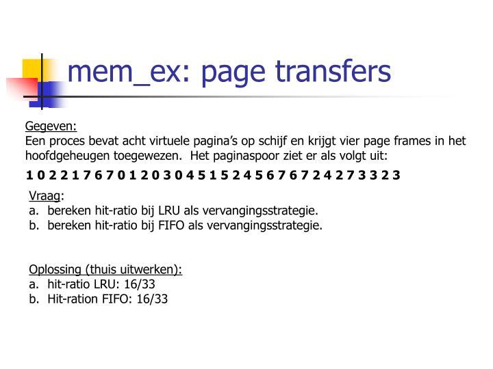 mem_ex: page transfers