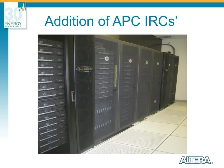 Addition of APC IRCs'