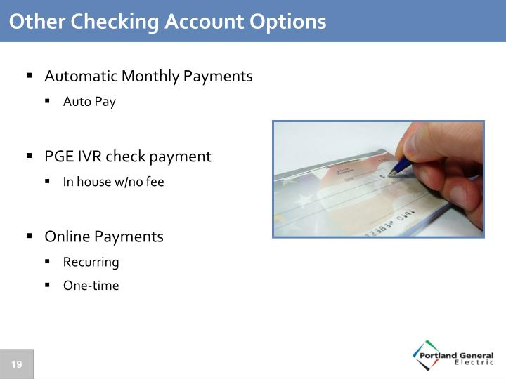 Other Checking Account Options