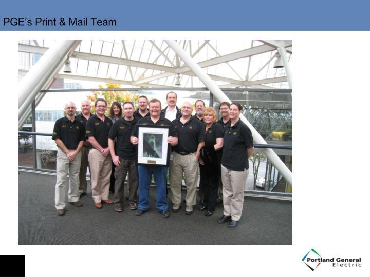 PGE's Print & Mail Team